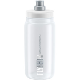 Elite Fly Drinking Bottle 0.5 l, clear/grey logo